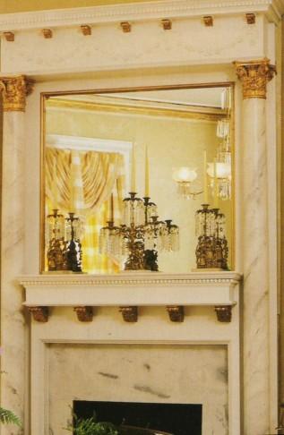 Custom Fireplace Mantel & Surround