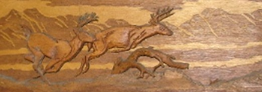 Carved Wildlife Mural