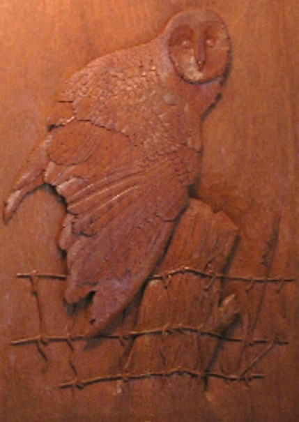 Carved Owl Mural