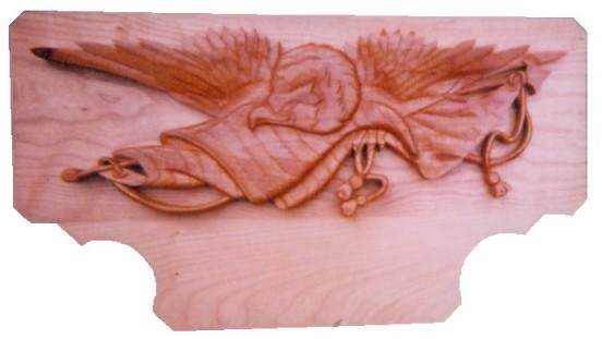 Custom Carved Eagle Sign