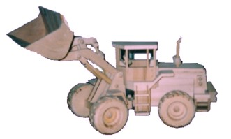 Hand Made Wooden Loader Toy
