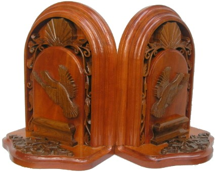 Custom Carved Quail Bookends